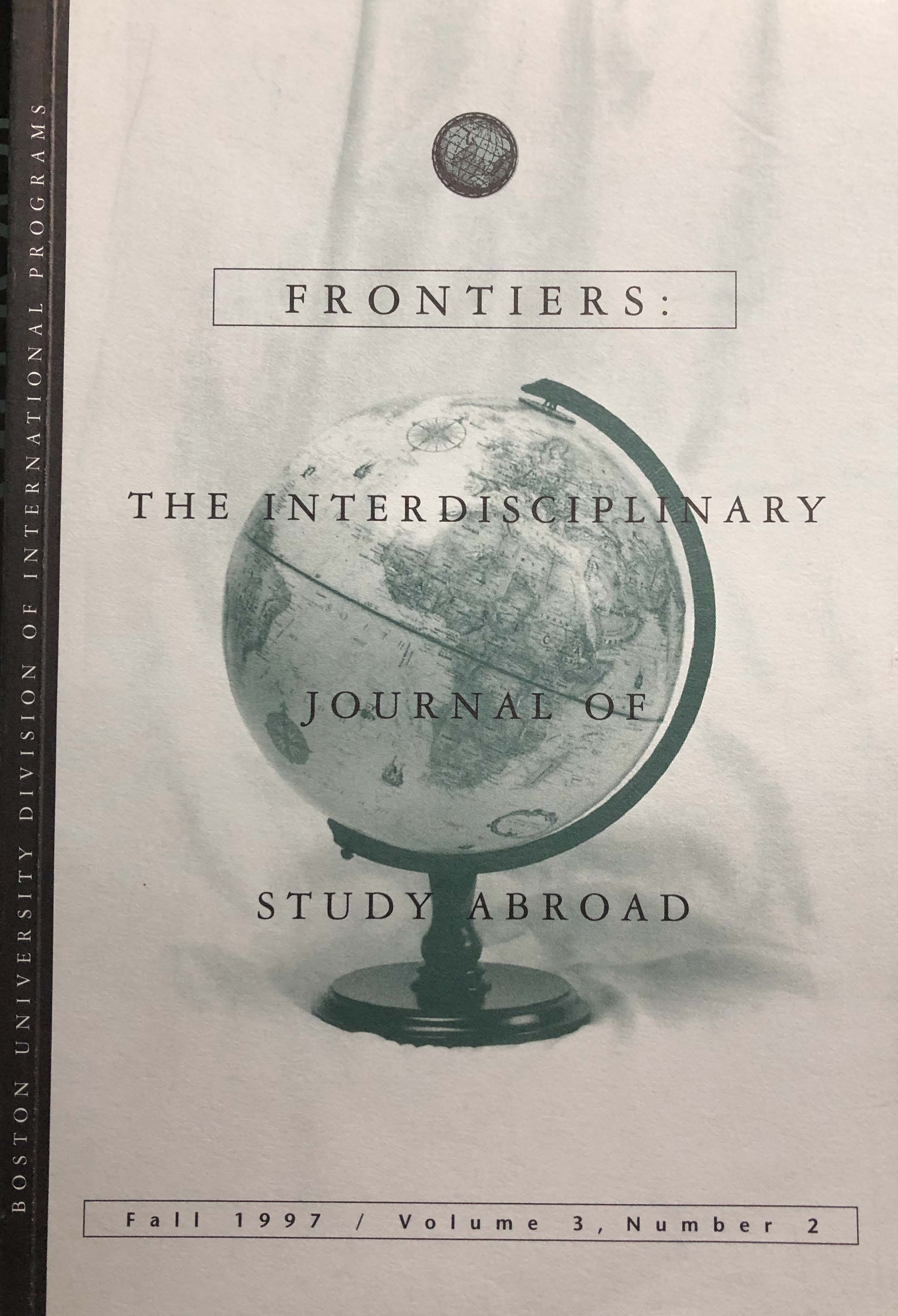 Frontiers: The Interdisciplinary Journal of Study Abroad