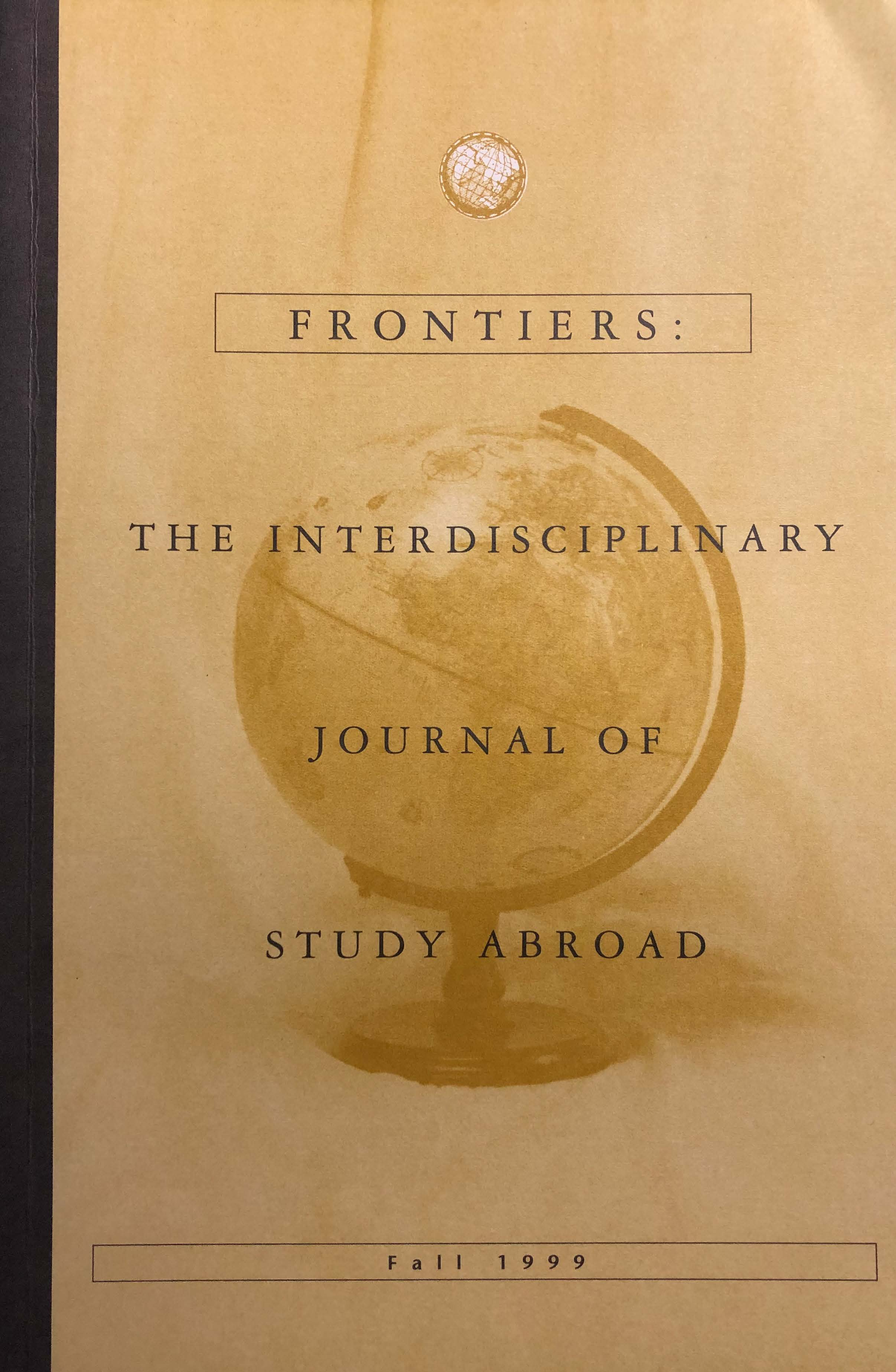 cover image of Fall 1998 Frontiers: The Interdisciplinary Journal of Study Abroad, yellow